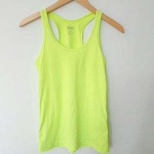 Nike Dri-Fit Athletic Tank Top Racerback Yellow XS